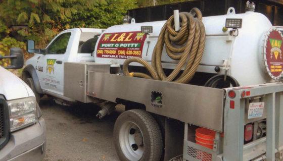 L & L Port O Potty truck